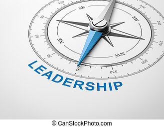 Compass on White Background, Leadership Concept