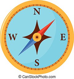 Compass on white background. Vector illustration.