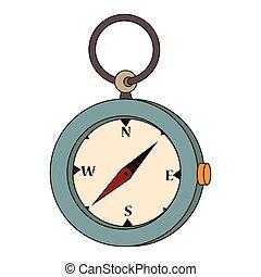 Compass orienteering icon vector illustration design
