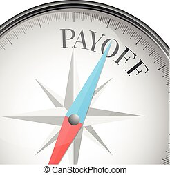 compass Payoff - detailed illustration of a compass with...