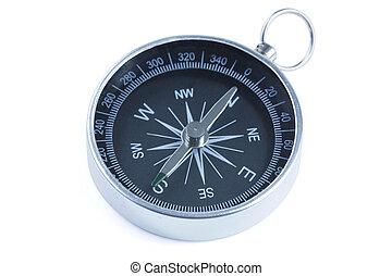 compass - close up of a compass with slight blue filter...