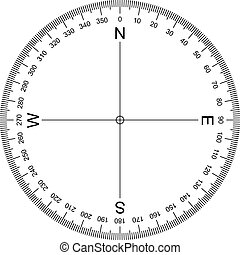 Compass Protractor - image of Protractor isolated on white ...