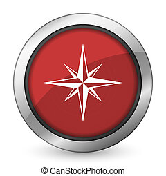 compass red icon
