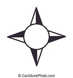 compass rose navigation cartography equipment line design icon