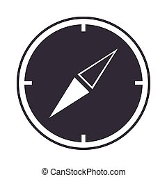 compass rose navigation geography equipment line design icon
