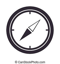 compass rose navigation geography equipment silhouette design icon