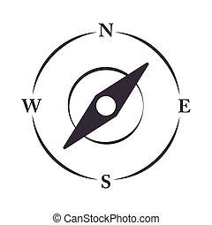 compass rose navigation location equipment line design icon