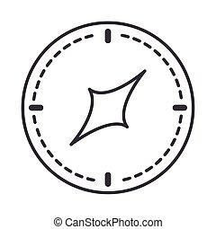 compass rose navigation orientation equipment line design icon