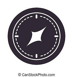 compass rose navigation orientation equipment silhouette design icon