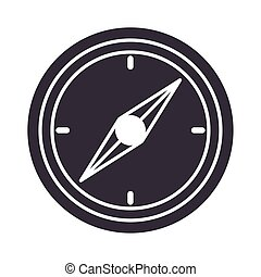 compass rose navigation position equipment silhouette design icon