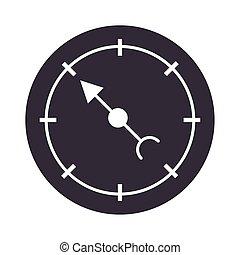compass rose navigation tourism equipment silhouette design icon