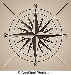 Compass rose. Vector illustration.