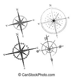 Compass Roses - Set of compass roses available in both jpeg...