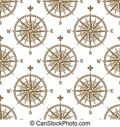 Compass seamless background pattern