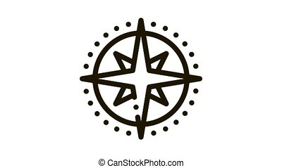 compass animated icon on white background