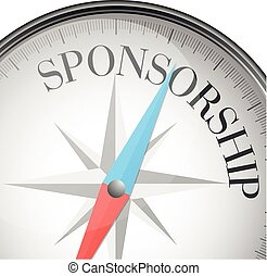 compass Sponsorship - detailed illustration of a compass...