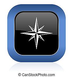 compass square glossy icon