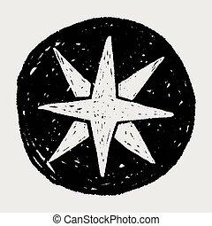 compass star doodle