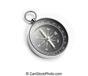 Compass - Closeup of a compass on white background