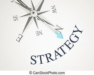 Compass - An image of a nice compass with the word strategy