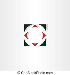compass target icon vector element