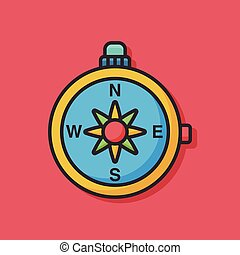 compass tool vector icon
