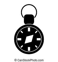 compass travel gps navigation pictogram vector illustration eps 10