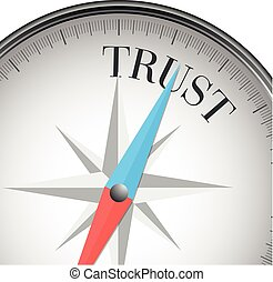 compass trust - detailed illustration of a compass with ...
