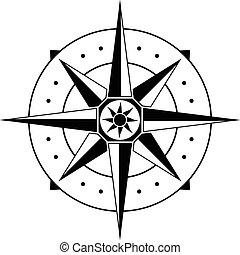compass. vector illustration