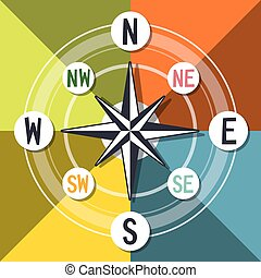 Compass Vector Colorful Design