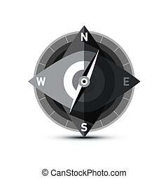 Compass Vector Icon Isolated on White Background