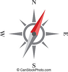 Compass vector icon. Wind rose isolated on white background....
