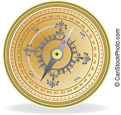 Compass. Vector illustration for you design