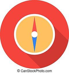 Compass vector illustration in flat design.