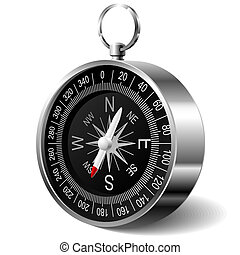 Vector photorealistic illustration of a compass
