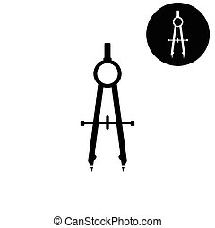 compass -  white vector icon