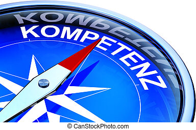 competence - compass with a german icon for competence