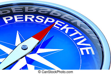 perspective - compass with a german perspective icon