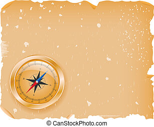Compass with a paper