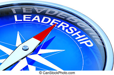 leadership - compass with leadership icon