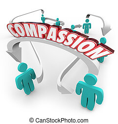 Compassion Connected People Showing Sympathy Empathy for ...