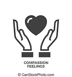 Compassion Feelings Glyph Vector Icon.