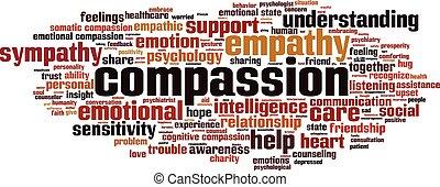Compassion-horizon - Compassion word cloud concept. Vector ...