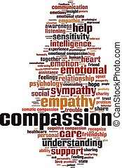 Compassion-vertical - Compassion word cloud concept. Vector ...