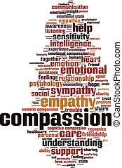 Compassion-vertical - Compassion word cloud concept. Vector ...