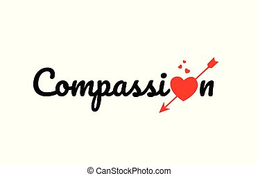 compassion word text typography design logo icon