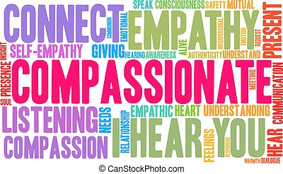 Compassionate Word Cloud - Compassionate word cloud on a ...