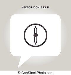 compasso, vetorial, ícone