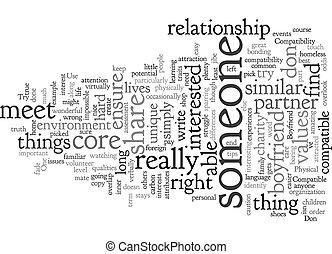 Compatible With My Boyfriend text background wordcloud concept