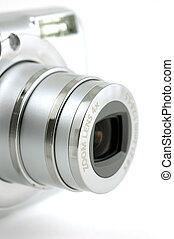 compatto, lente, macchina fotografica, digitale